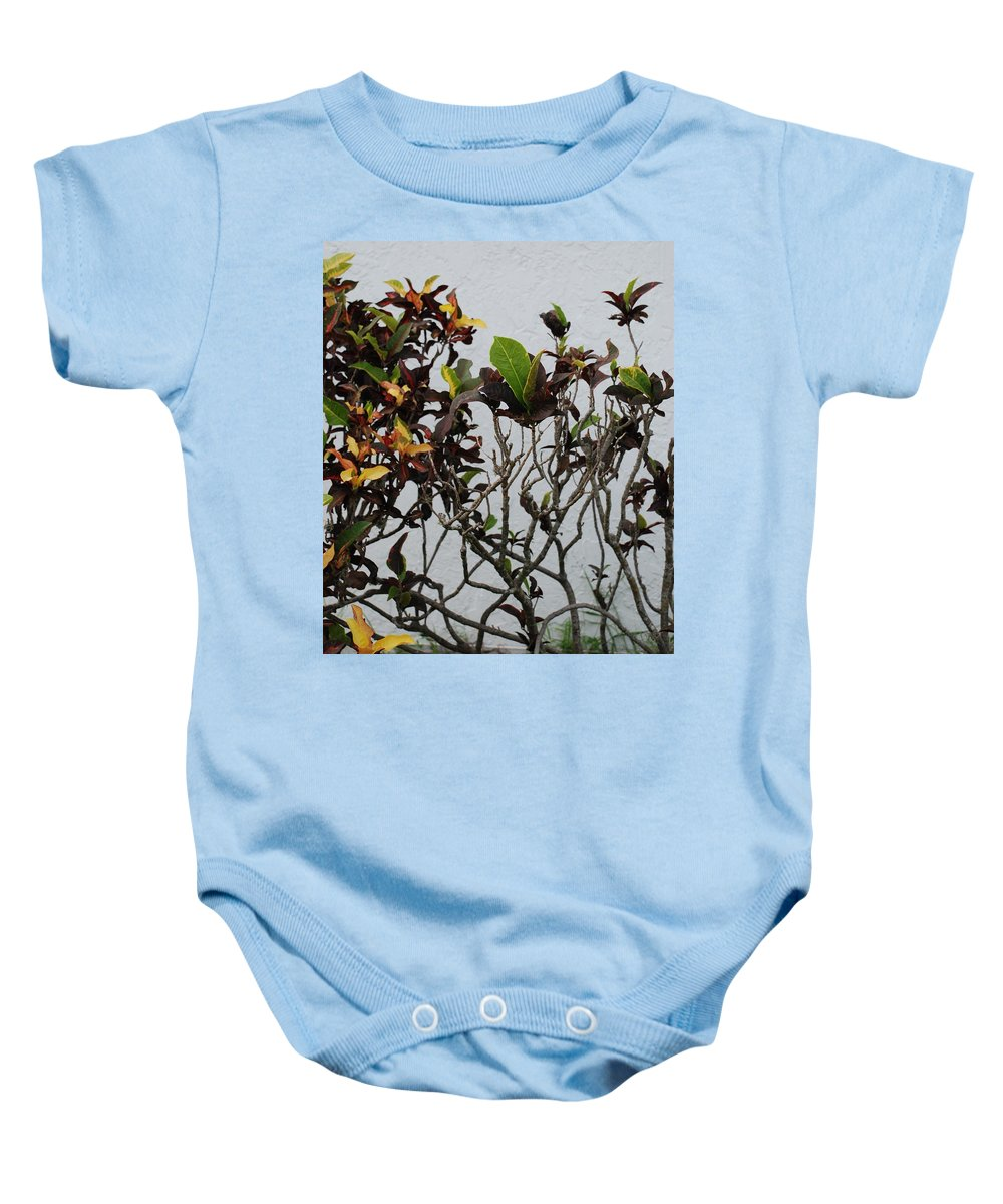 Macro Baby Onesie featuring the photograph Yellogreen by Rob Hans