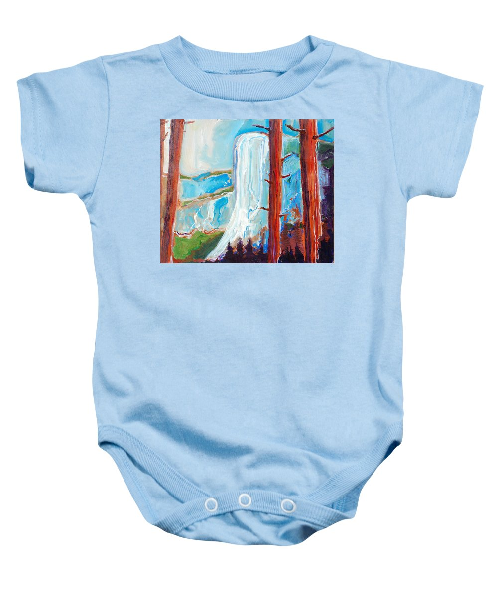 Baby Onesie featuring the painting Yosemite by Kurt Hausmann