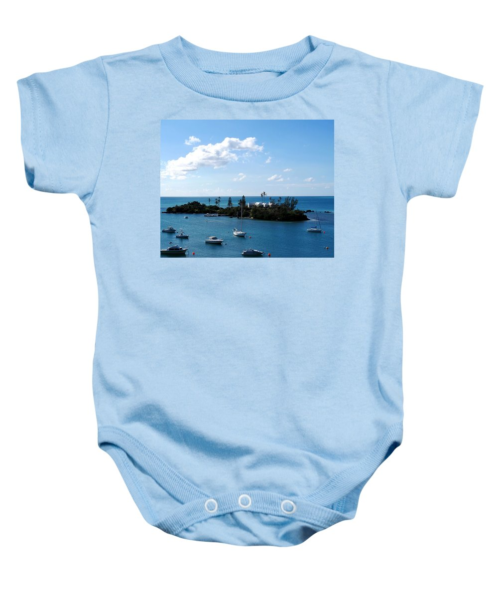 Bermuda Baby Onesie featuring the photograph Your Island In The Sun by Ian MacDonald