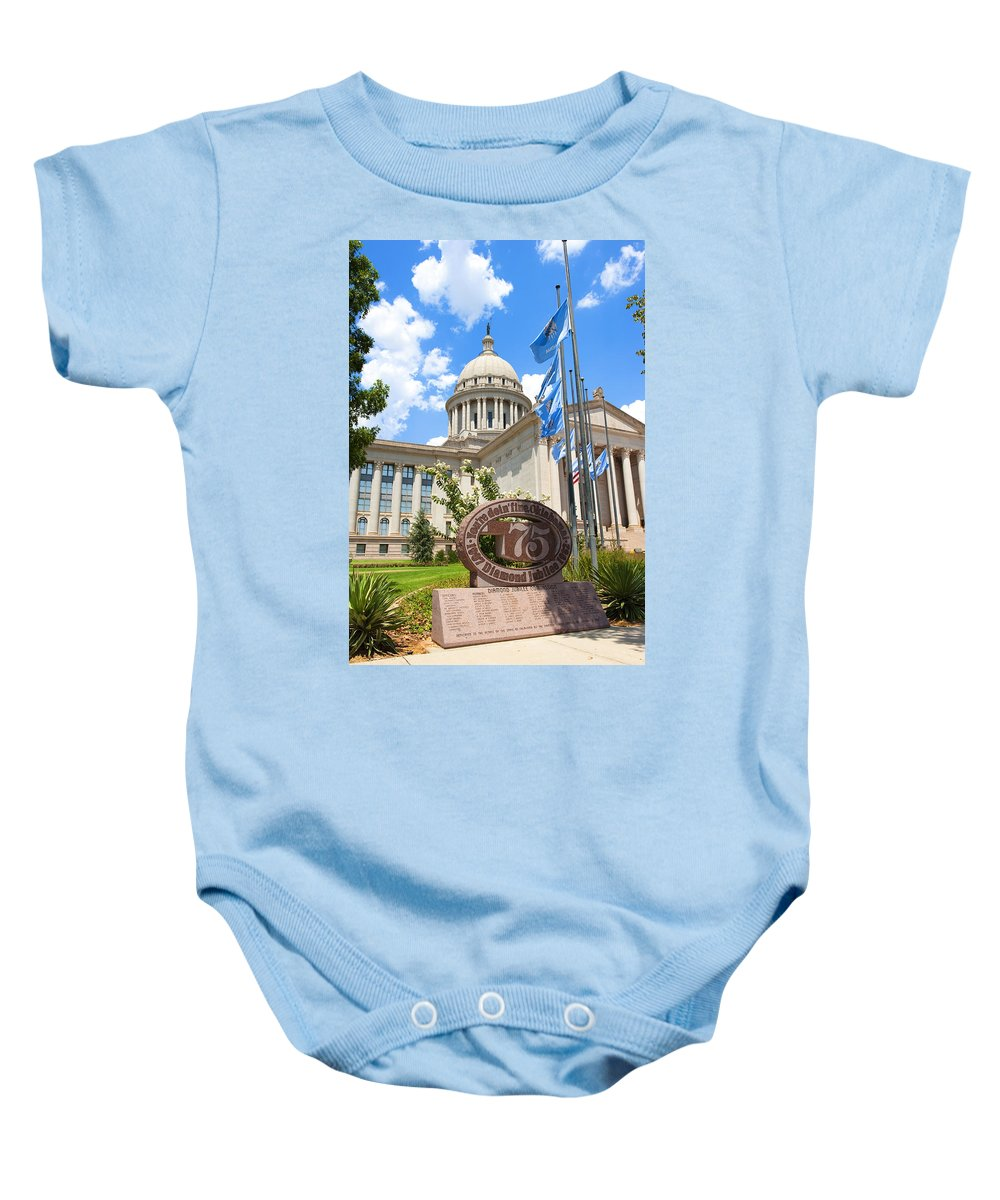 Administration Baby Onesie featuring the photograph You're Doin' Fine Oklahoma by Ricky Barnard