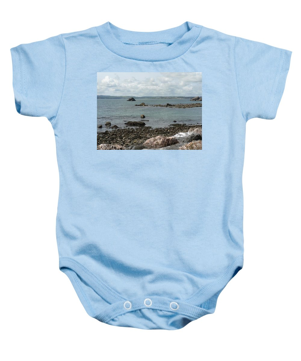 Beach Baby Onesie featuring the photograph Across The Bay by Lynne Iddon