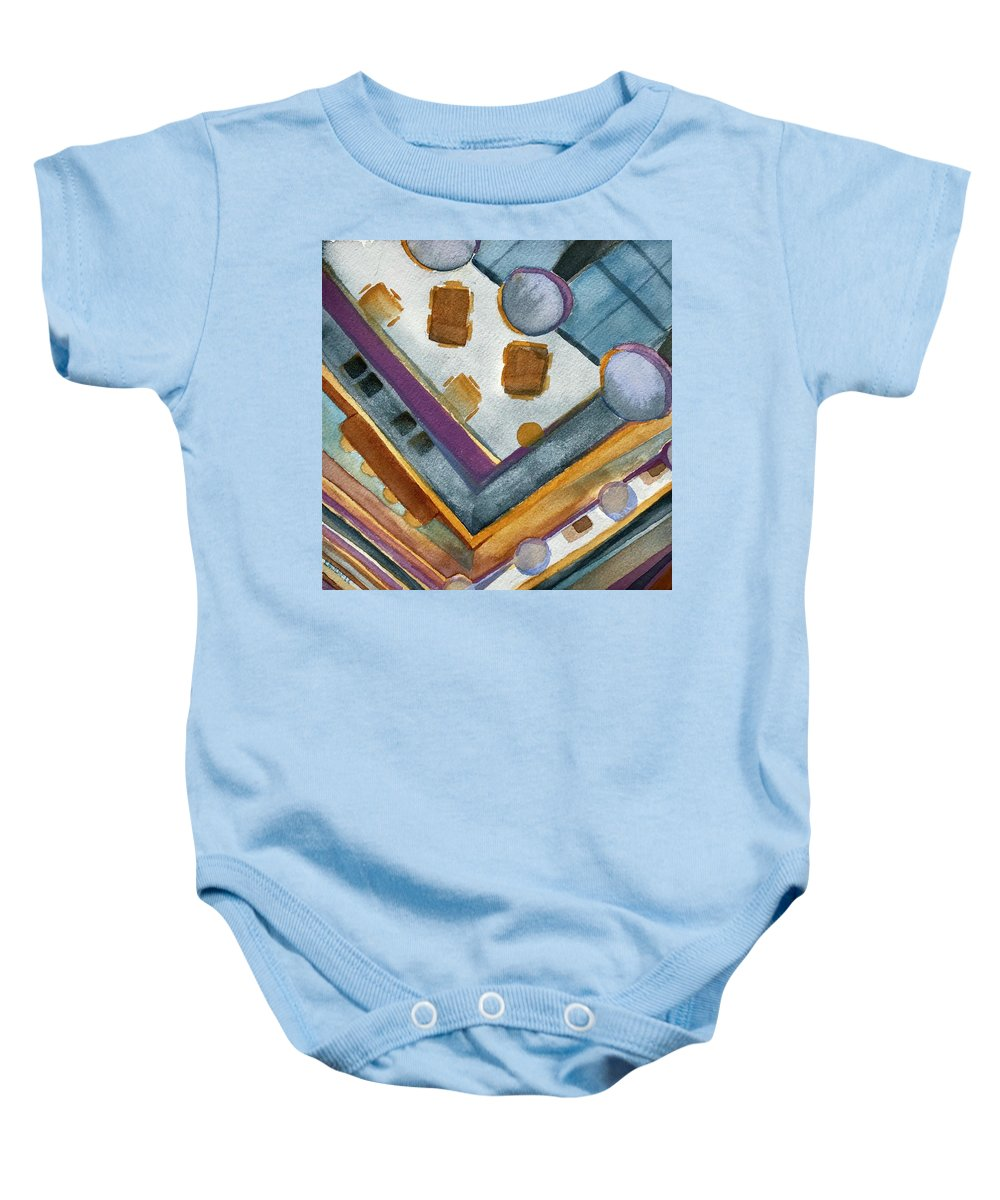 Cliff Club Baby Onesie featuring the painting Atrium View At Cliff Club by Lynne Bolwell
