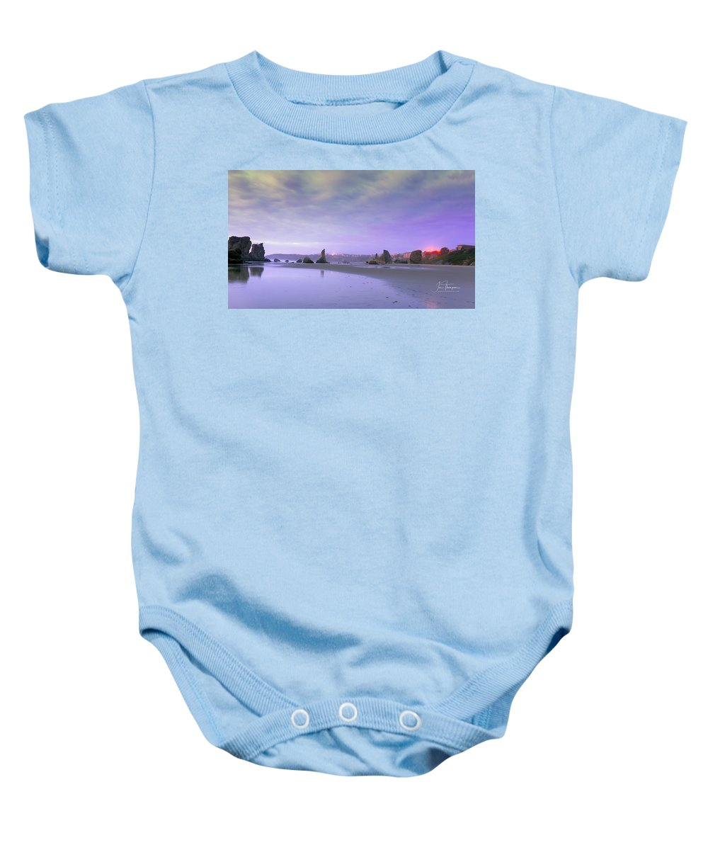 Bandon Beach Baby Onesie featuring the photograph Bandon Beach, Oregon by Jim Thompson