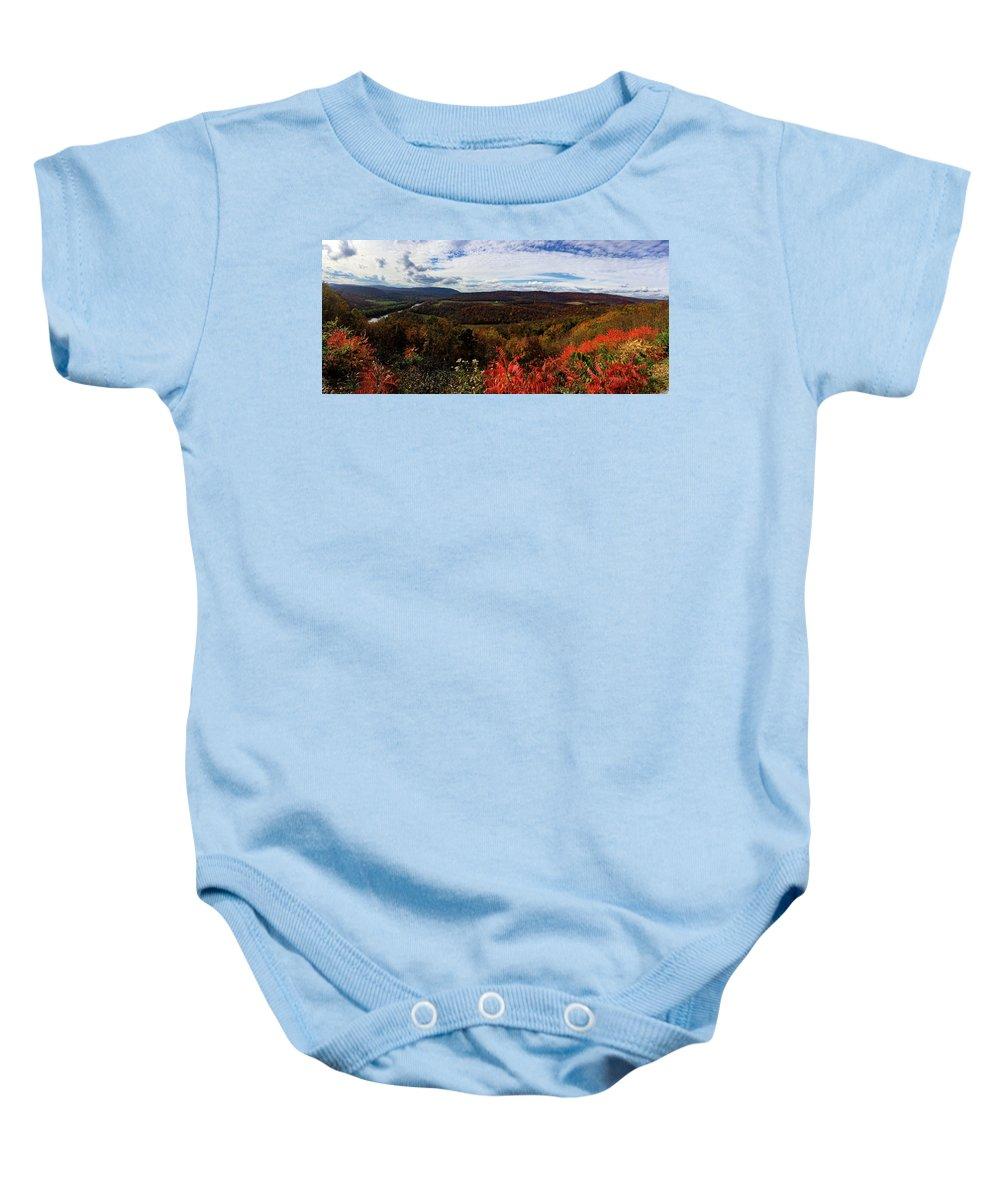 Panoramic Baby Onesie featuring the photograph Berkeley Springs Overlook by Natural Vista Photo - Matt Sexton