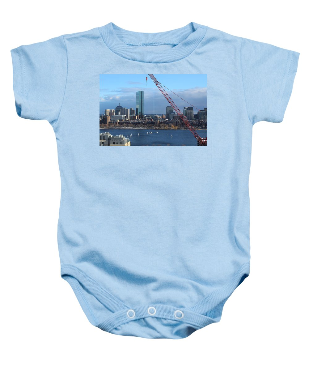 Boston Baby Onesie featuring the photograph Boston Skyline by Brittany Galipeau