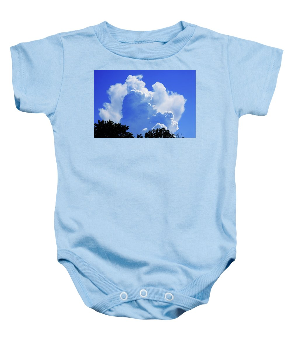 Clouds Baby Onesie featuring the photograph Clouds one by John Lautermilch