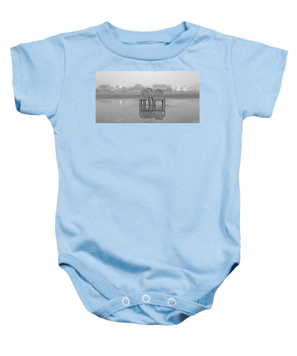 Old Baby Onesie featuring the photograph Coastal Theater by Betsy Knapp