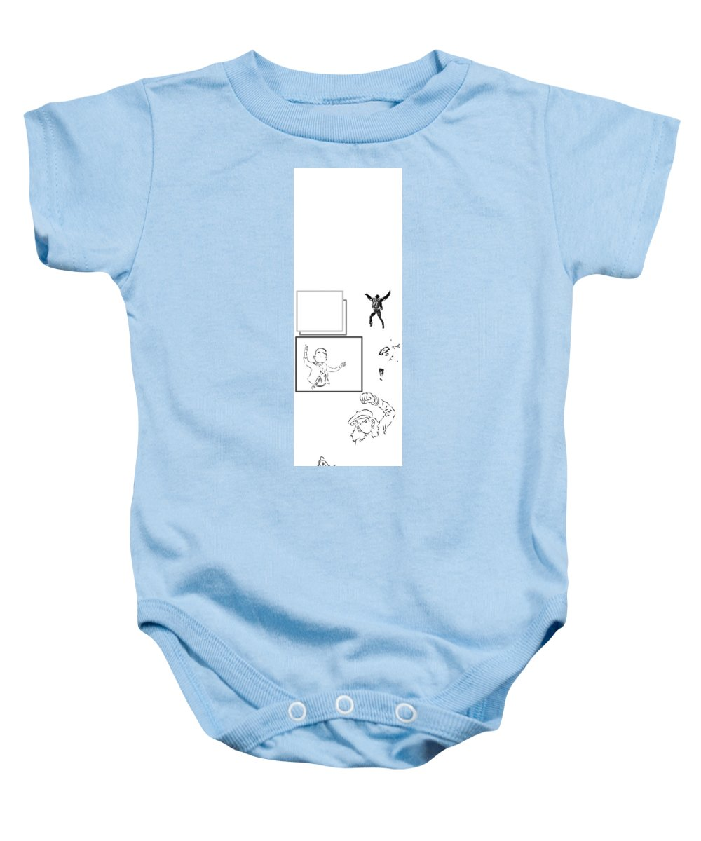 Baby Onesie featuring the digital art Fall White by Brandon Mazer
