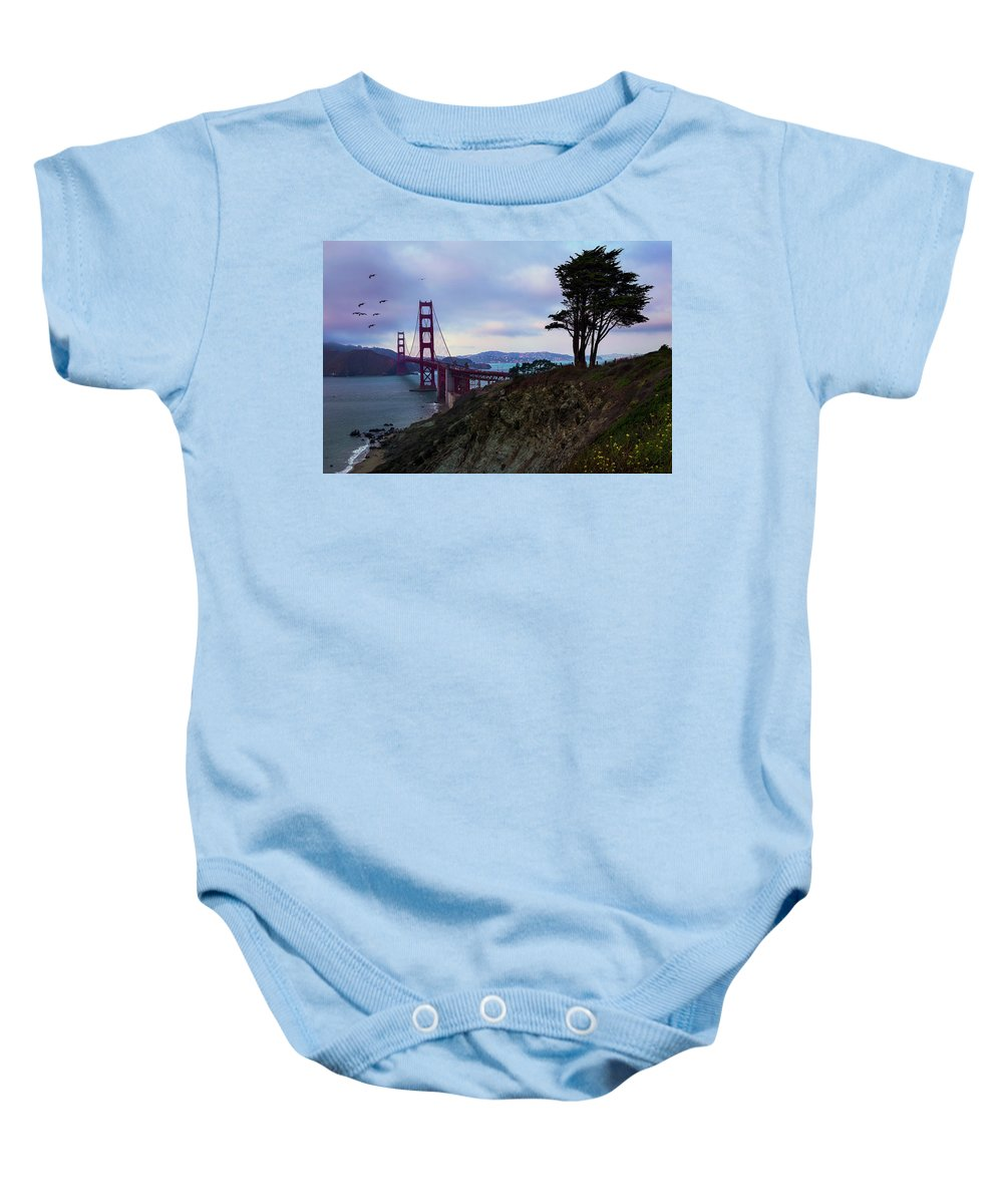 San Francisco Baby Onesie featuring the photograph Feel The Wind by Dora Artemiadi