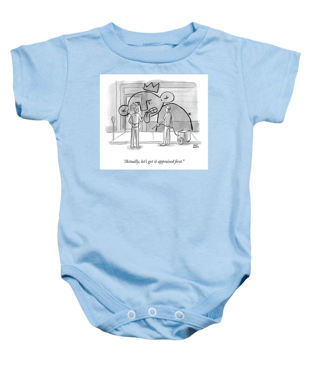 A22763 Baby Onesie featuring the drawing Get It Appraised by Brian Hawes and Seth Roberts