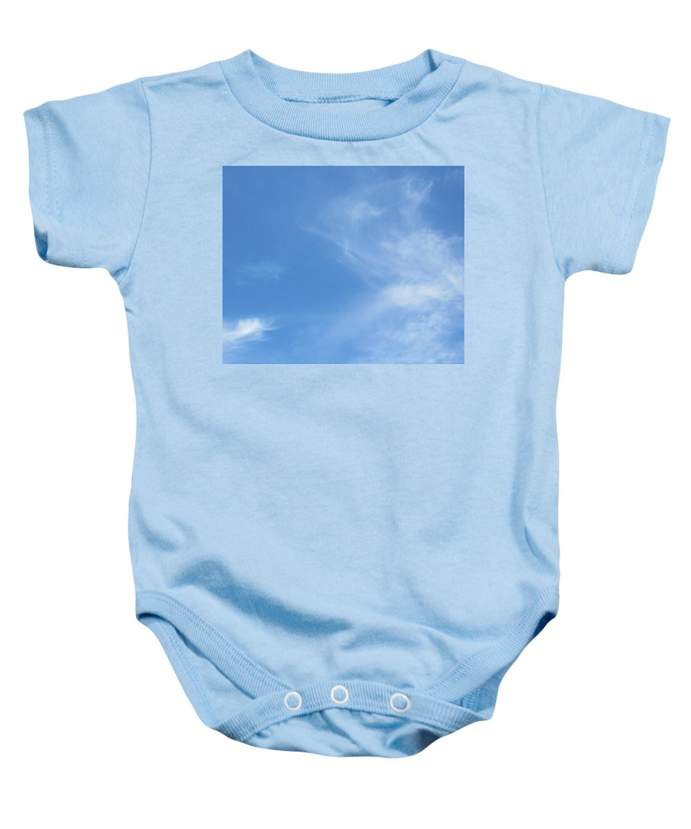 Clouds Baby Onesie featuring the pastel God's Canvas- 4 by Erma L George