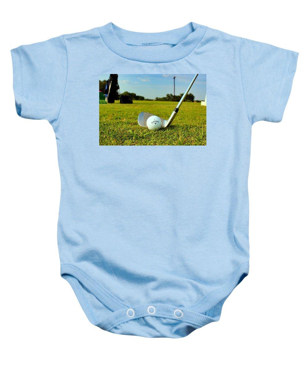 Golf Ball Baby Onesie featuring the photograph Golf Day by Sara Martinez