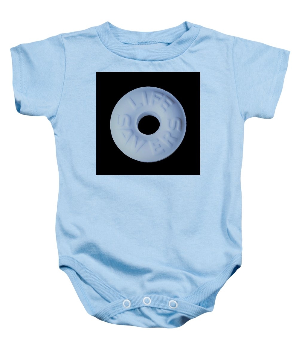 Life Saver Baby Onesie featuring the photograph Life Savers Cool Mint by Rob Hans