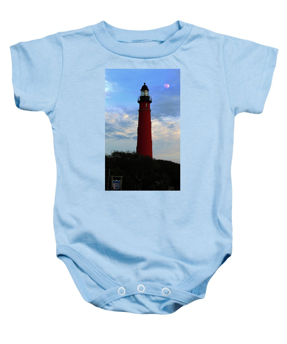 Ponce Inlet Baby Onesie featuring the photograph Ponce Inlet Lighthouse by Roger Epps
