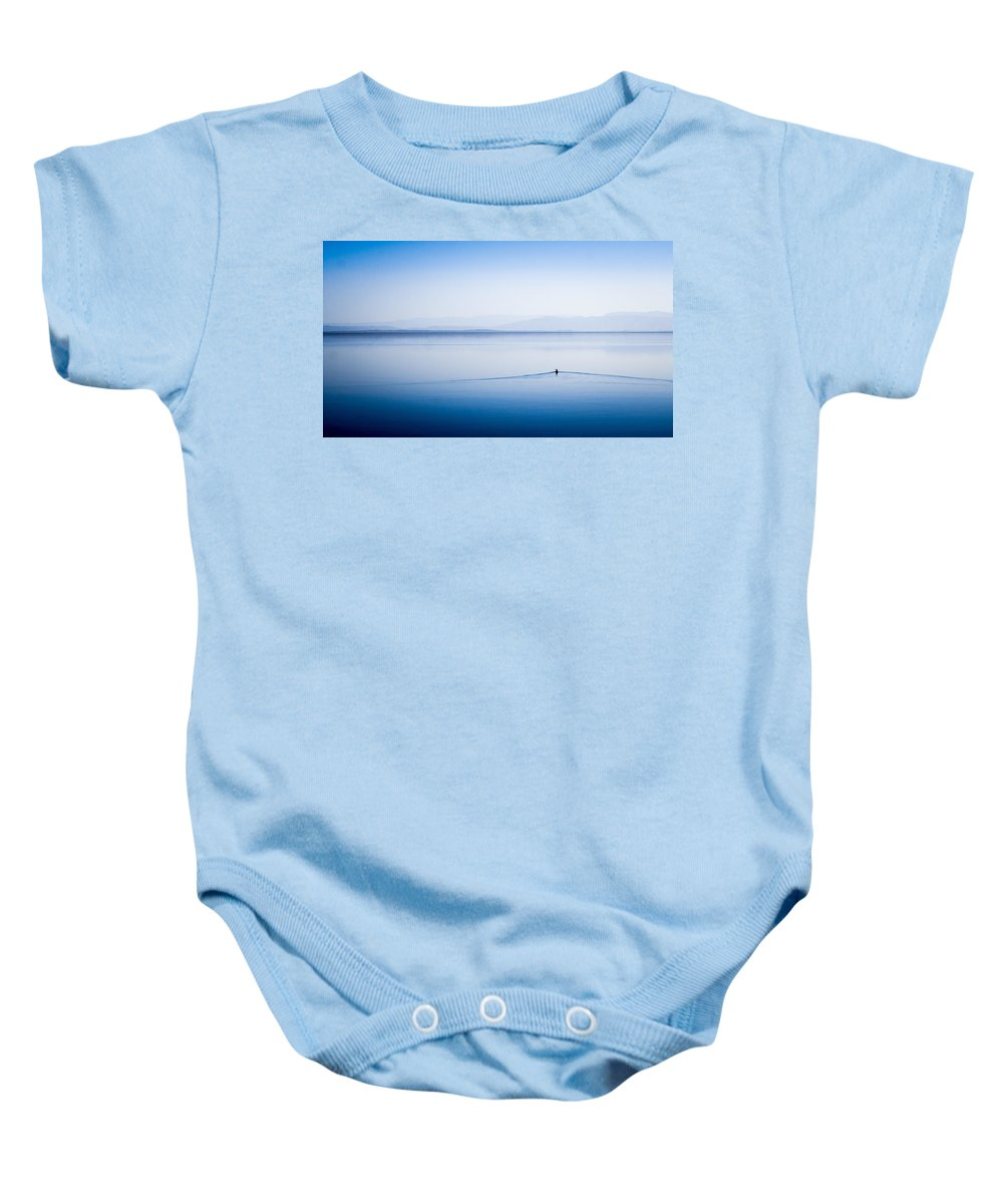 Duck Baby Onesie featuring the photograph Ripple Effect by Jorge Ramirez