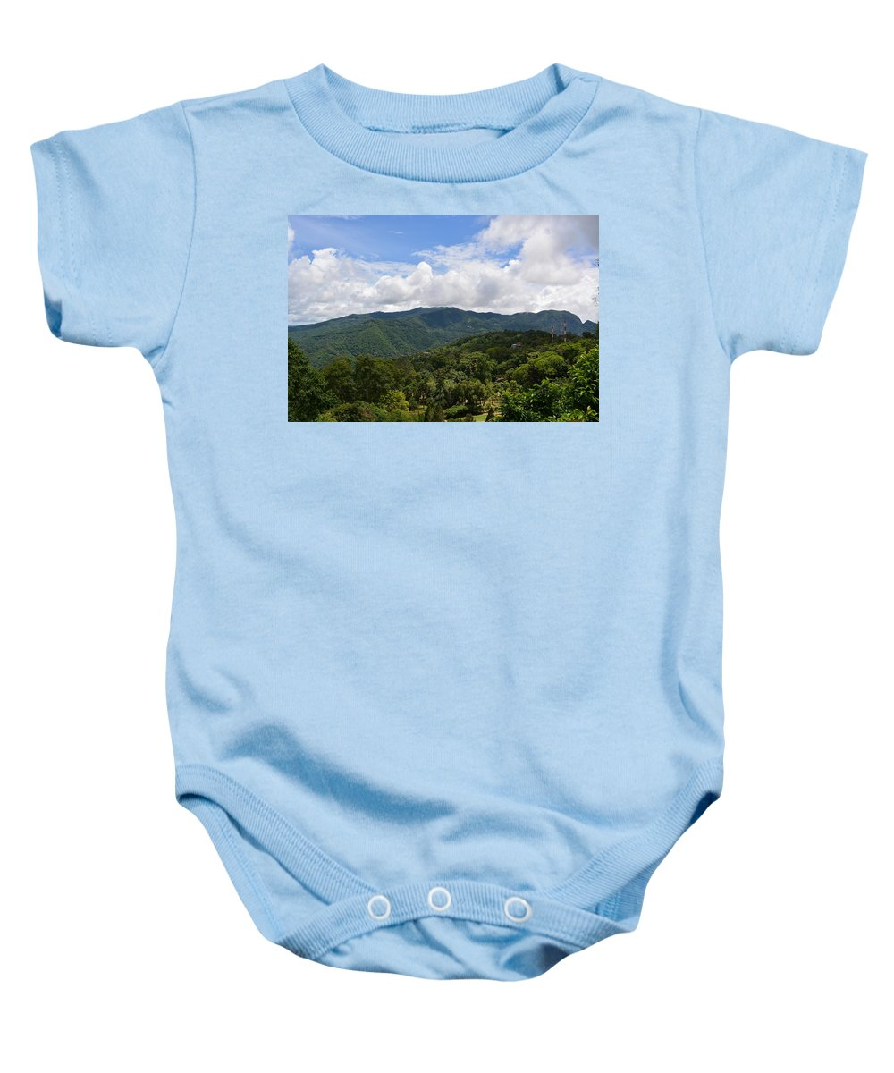 Landscape Baby Onesie featuring the photograph Rolling Hills, Open Sky by Elizabeth Vaughn