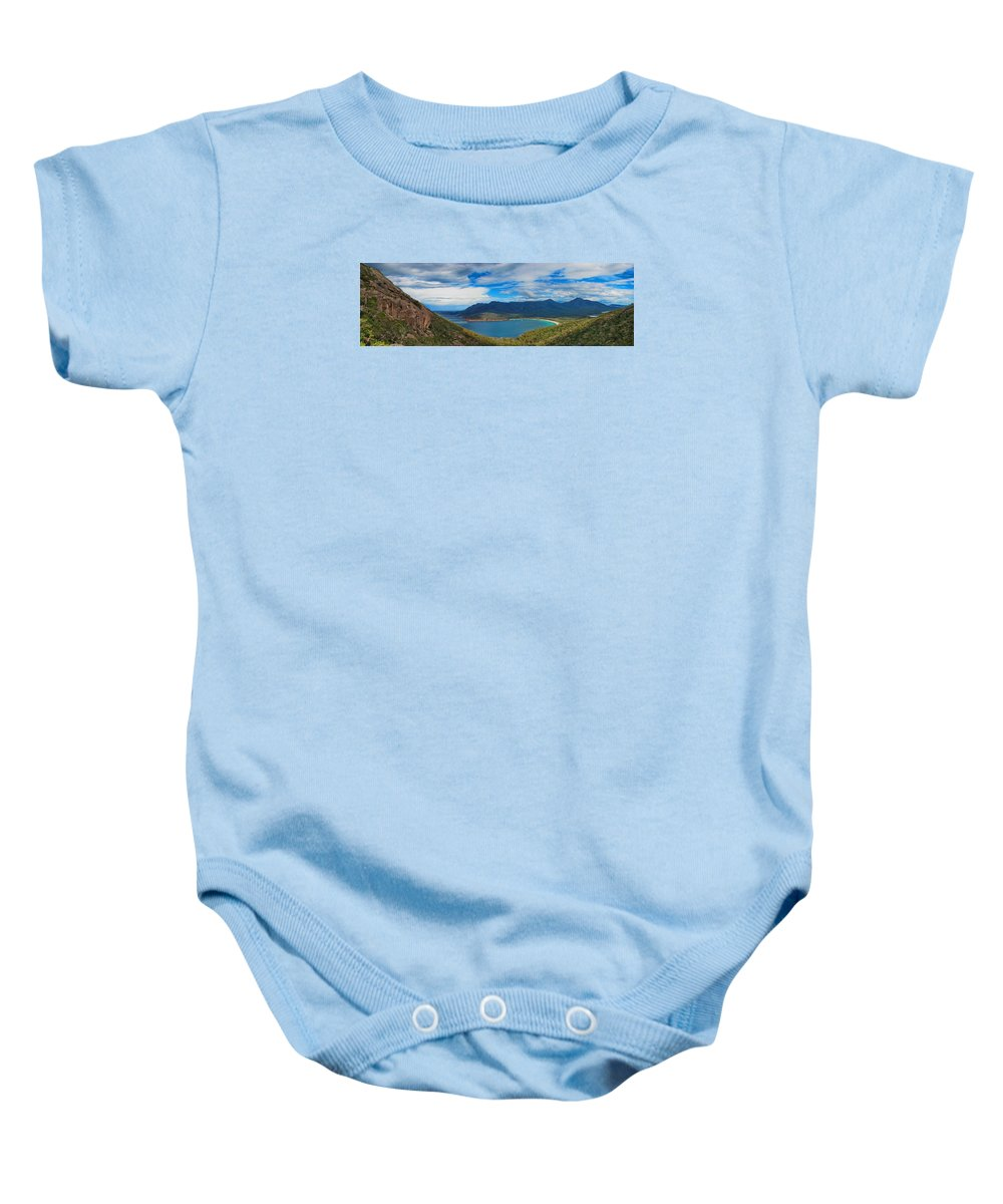 Wineglass Baby Onesie featuring the photograph Wineglass Bay by Alexey Dubrovin