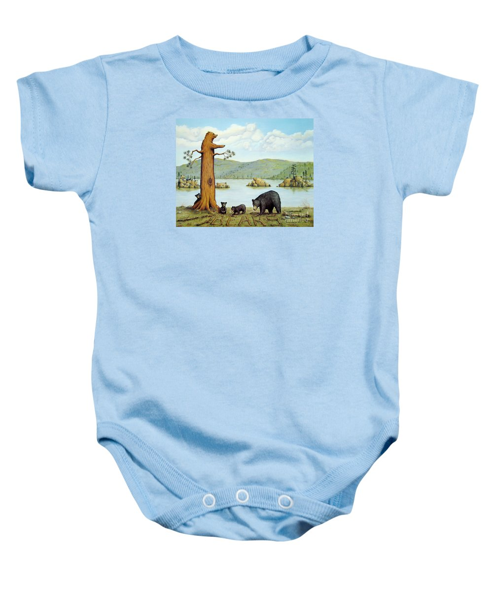 Bears Baby Onesie featuring the painting 27 Bears by Jerome Stumphauzer
