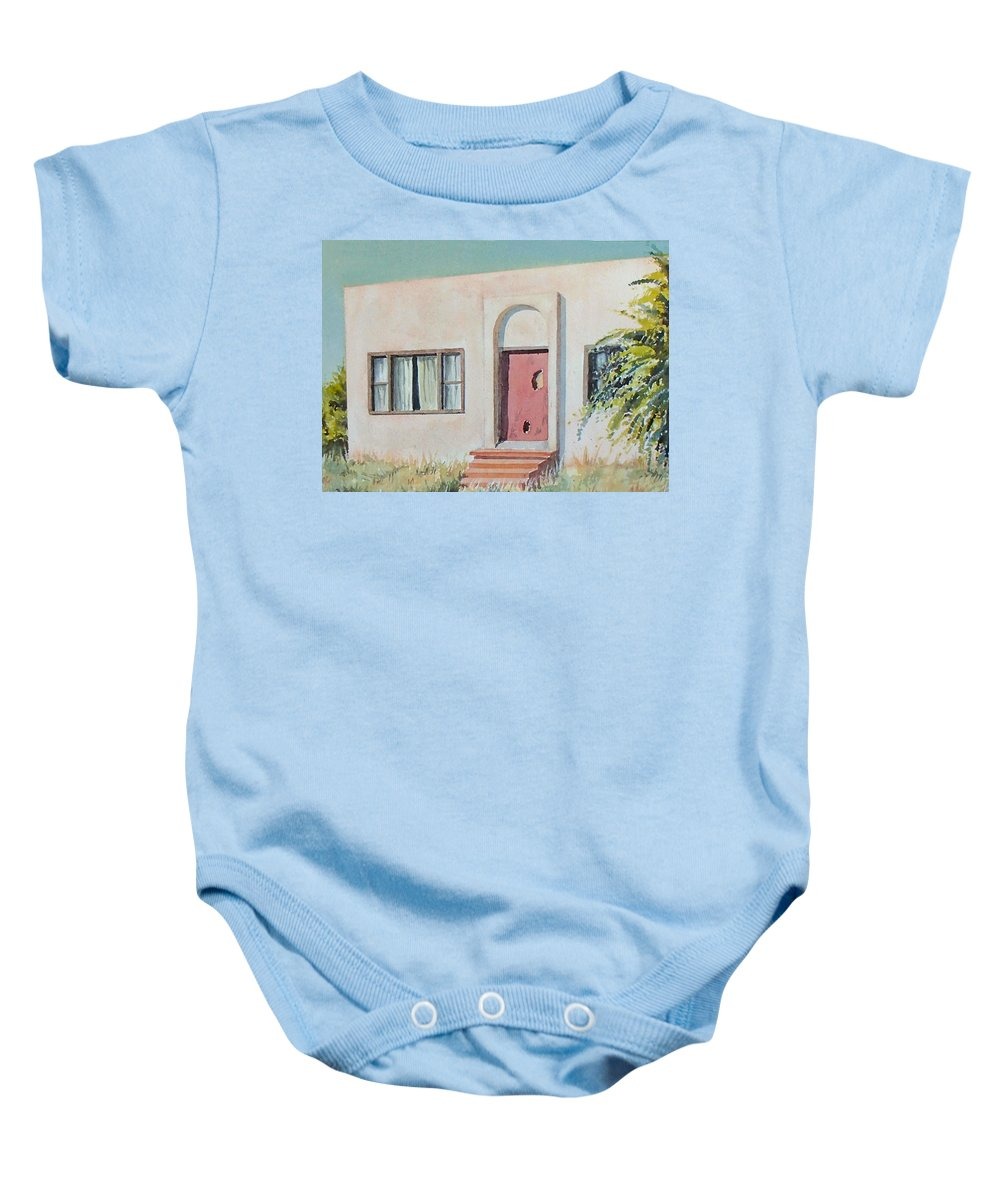 House Baby Onesie featuring the painting Once was a Home by Philip Fleischer