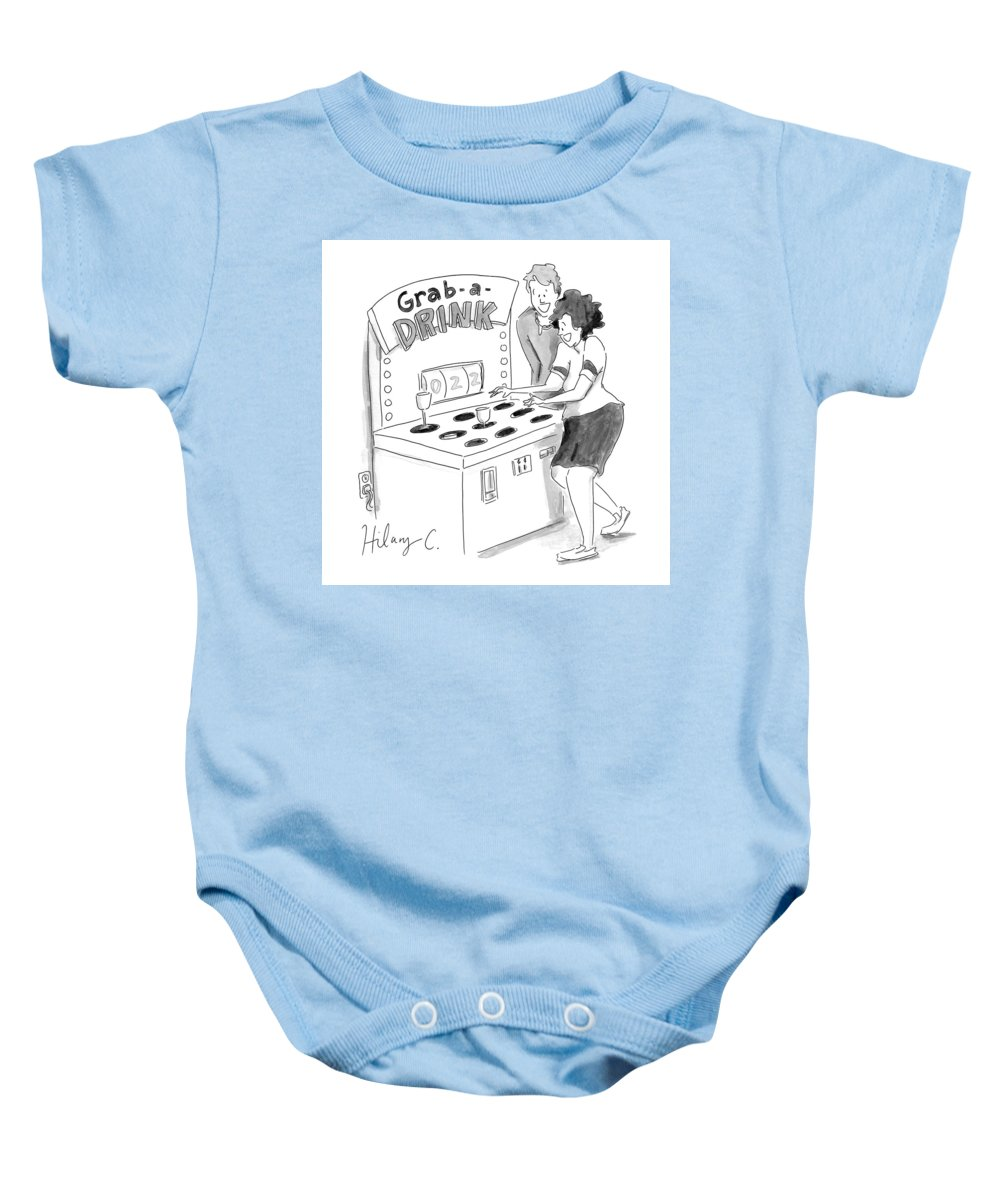 Captionless Baby Onesie featuring the drawing New Yorker June 3, 2021 by Hilary Fitzgerald Campbell