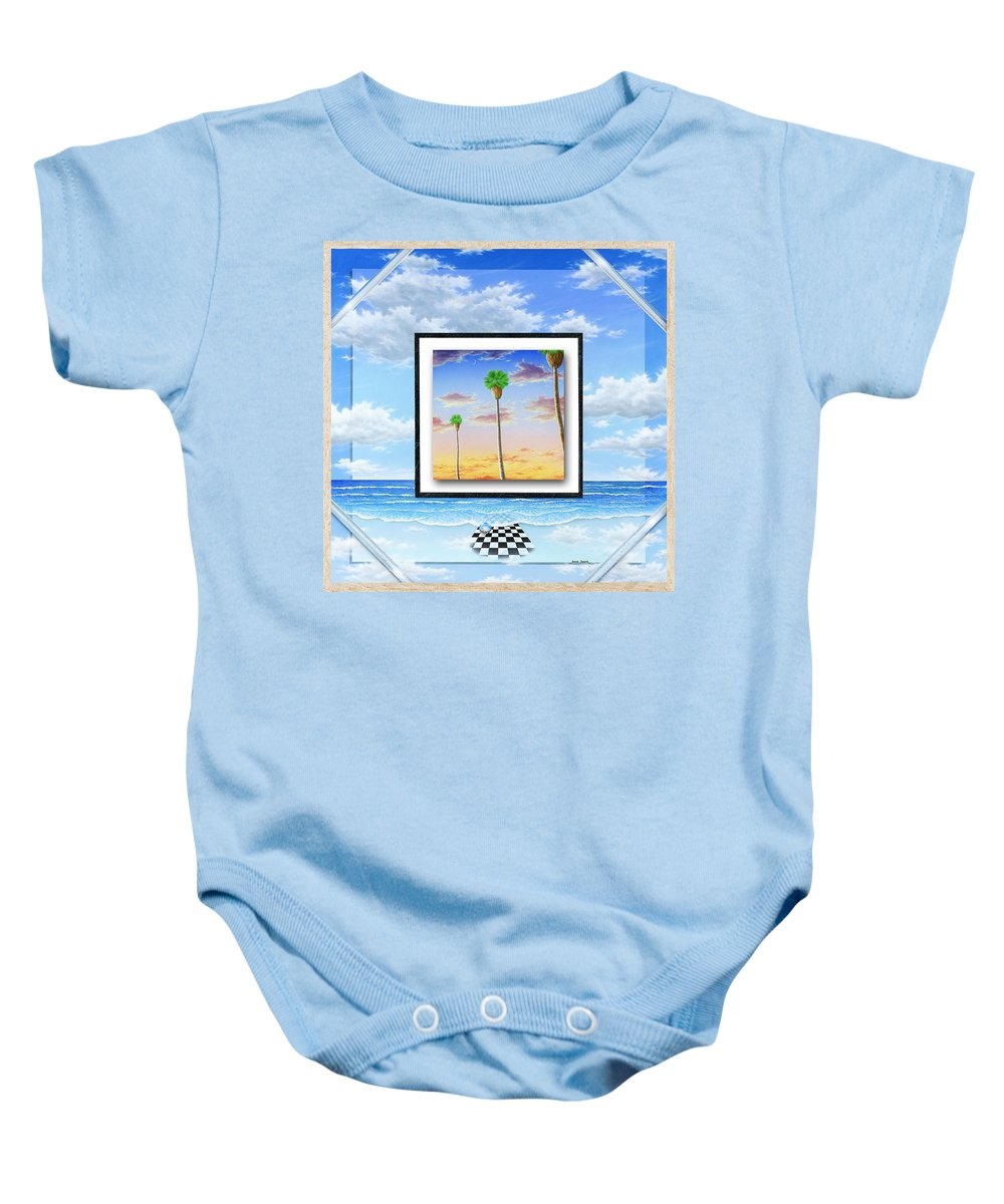 Ocean Baby Onesie featuring the painting Noteworthy Aspirations by Snake Jagger