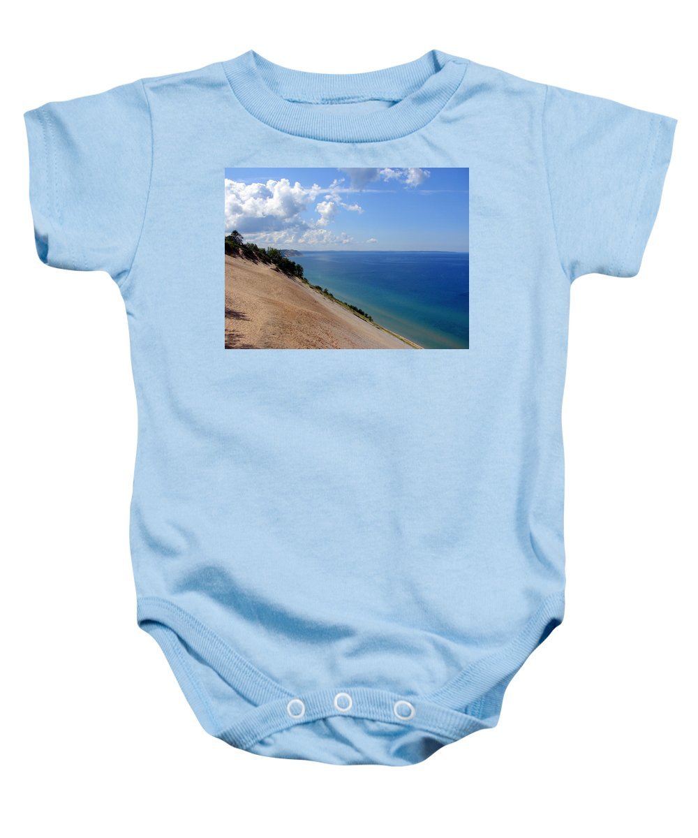 Sleeping Bear Dunes Baby Onesie featuring the photograph Sleeping Bear Dunes National Lakeshore Michigan by Michelle Calkins