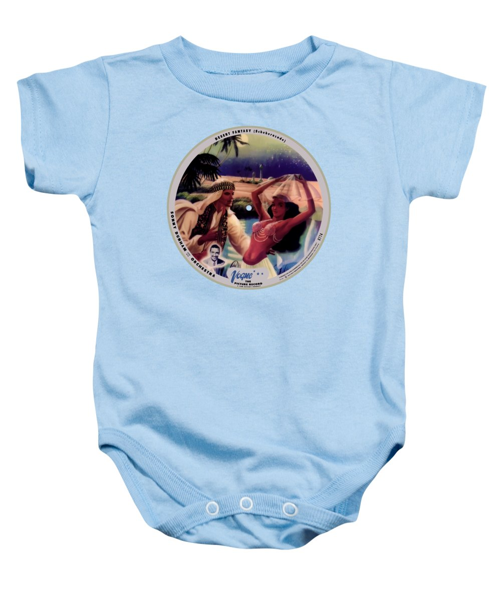 Vogue Picture Record Baby Onesie featuring the digital art Vogue Record Art - R 774 - P 141 - Square Version by John Robert Beck