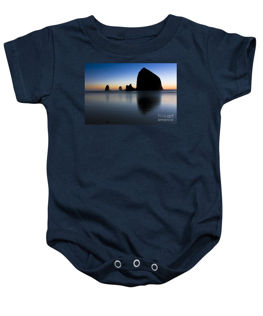 Cannon Baby Onesie featuring the photograph 0514 Cannon Beach - Oregon by Steve Sturgill