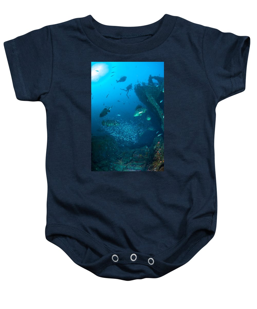 Beach Baby Onesie featuring the photograph Action On The Castor by Sandra Edwards