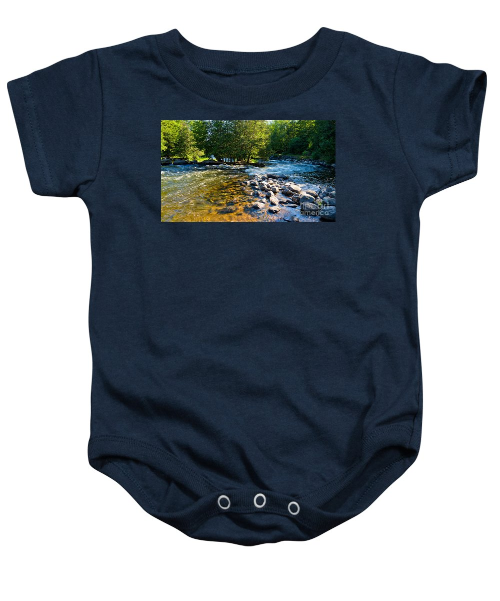 Gull Baby Onesie featuring the photograph Gull River by Les Palenik