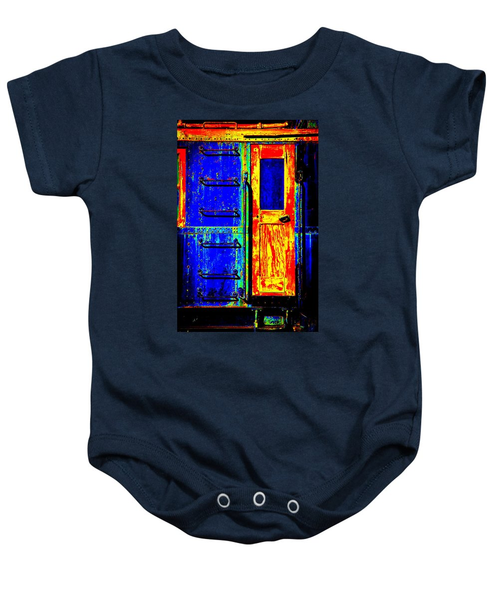 Impressionism Baby Onesie featuring the digital art Impressionistic Photo Paint Gs 017 by Catf