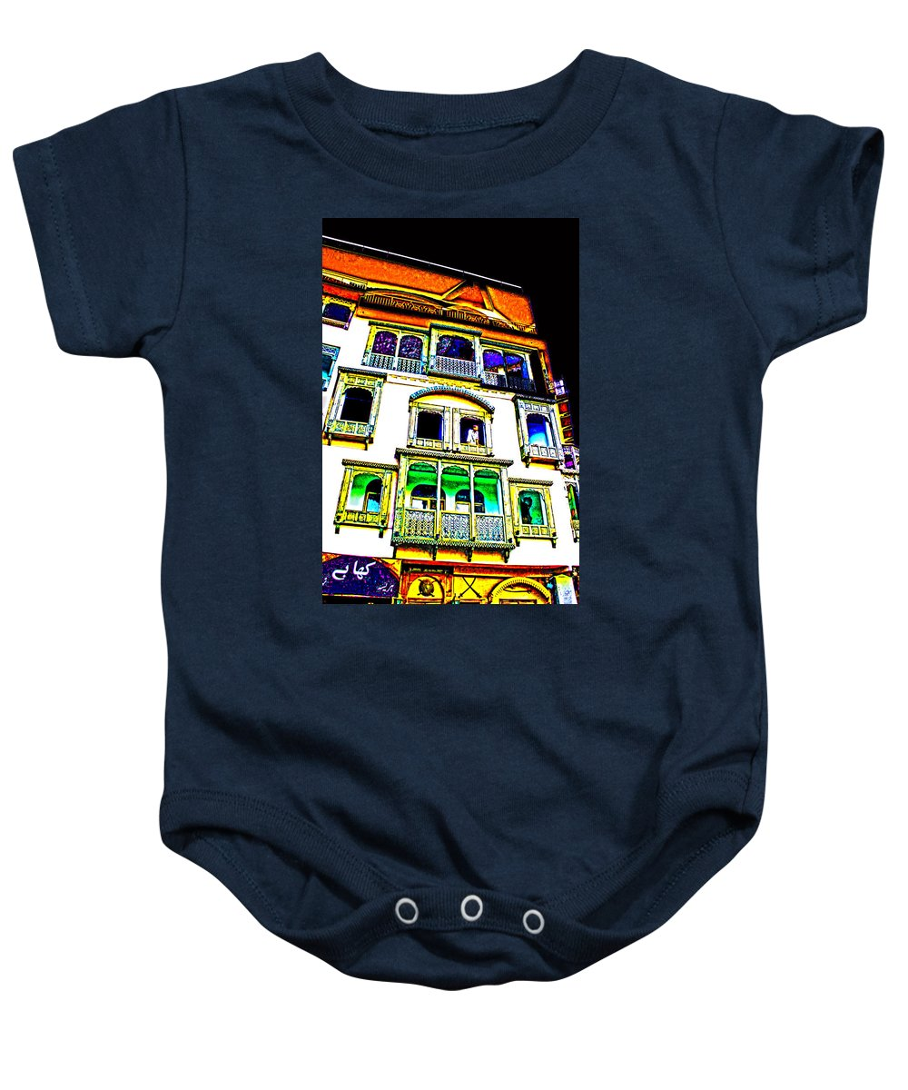 Baby Onesie featuring the digital art Impressionistic Photo Paint Ls 004 by Catf
