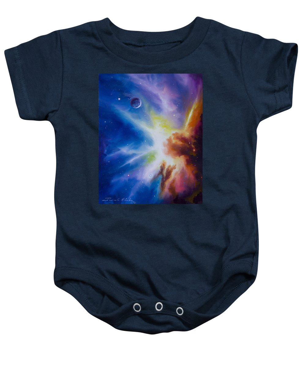 James Christopher Hill Baby Onesie featuring the painting Origin Nebula by James Christopher Hill