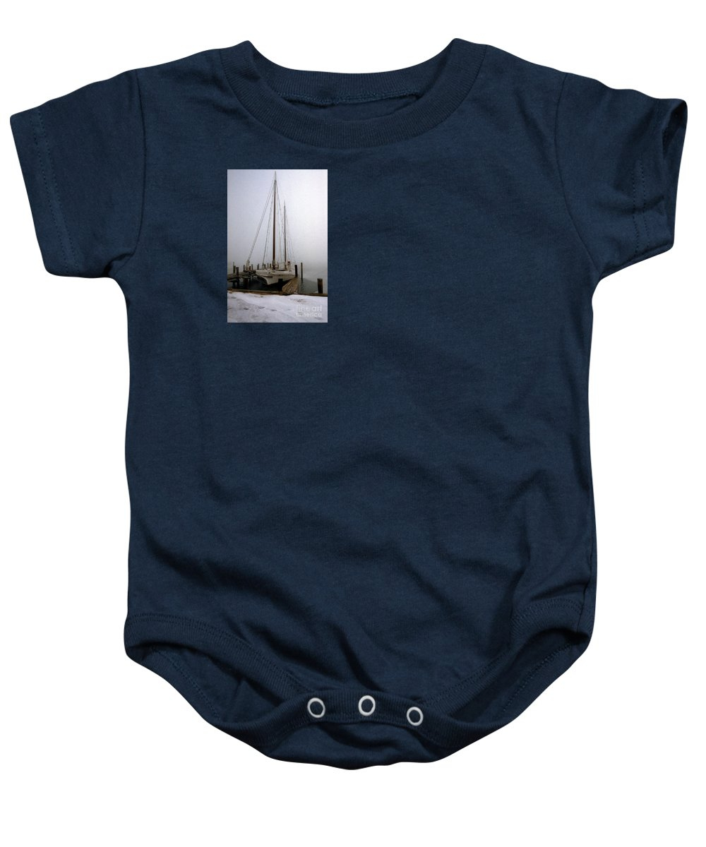 Maritime Baby Onesie featuring the photograph Skipjack by Skip Willits