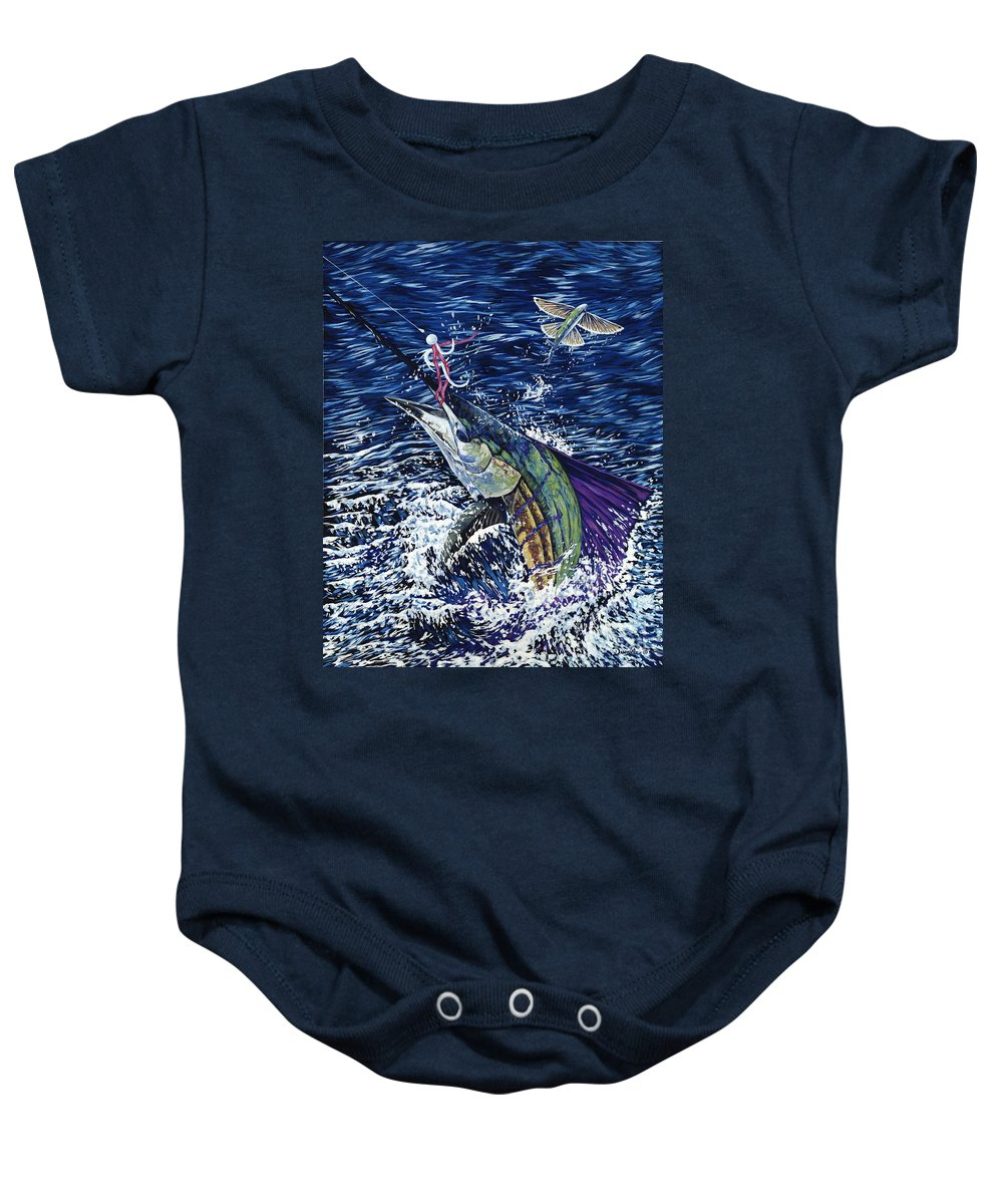 Sailfish Baby Onesie featuring the painting Top Sail by Danielle Perry