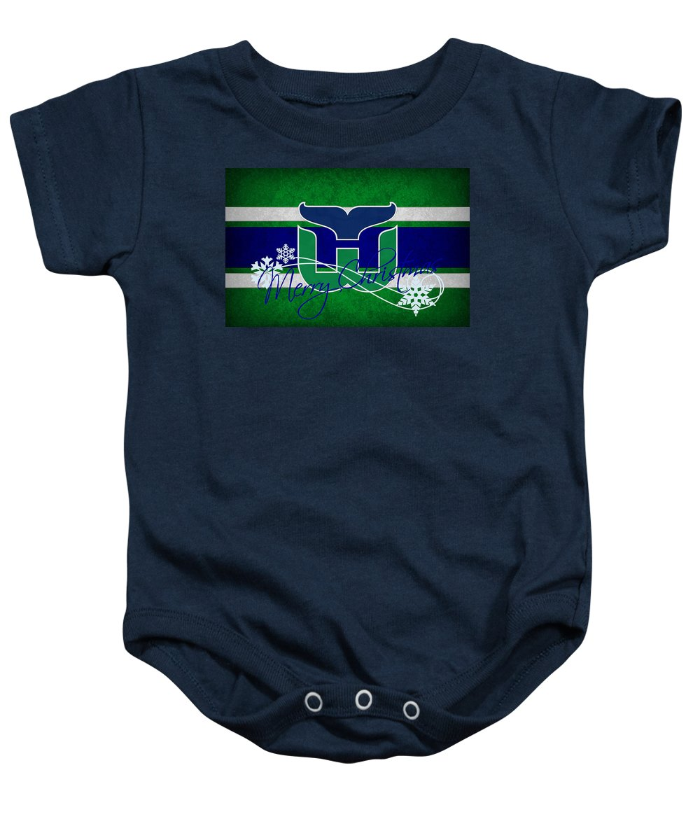 Whalers Baby Onesie featuring the photograph Hartford Whalers by Joe Hamilton