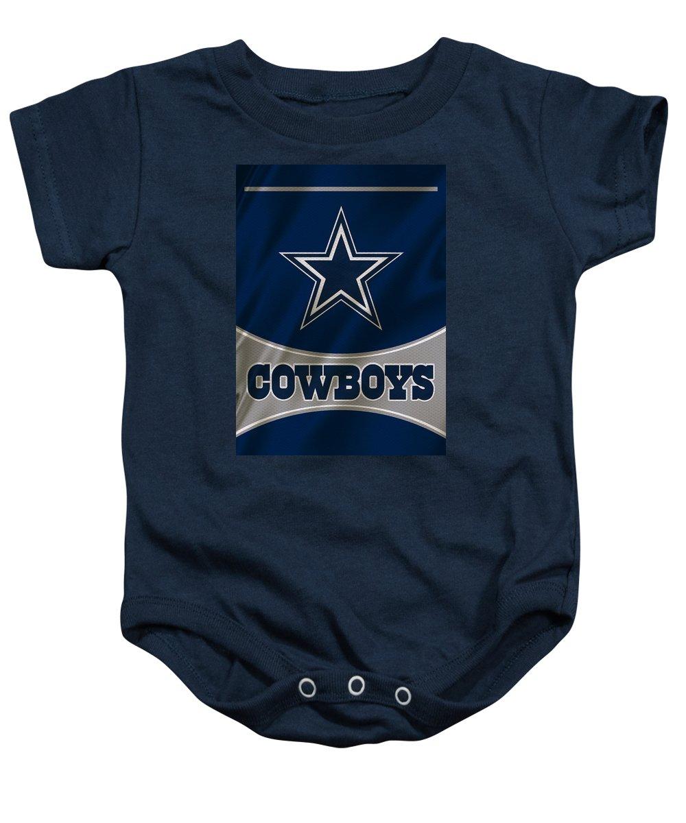 Cowboys Baby Onesie featuring the photograph Dallas Cowboys Uniform by Joe Hamilton