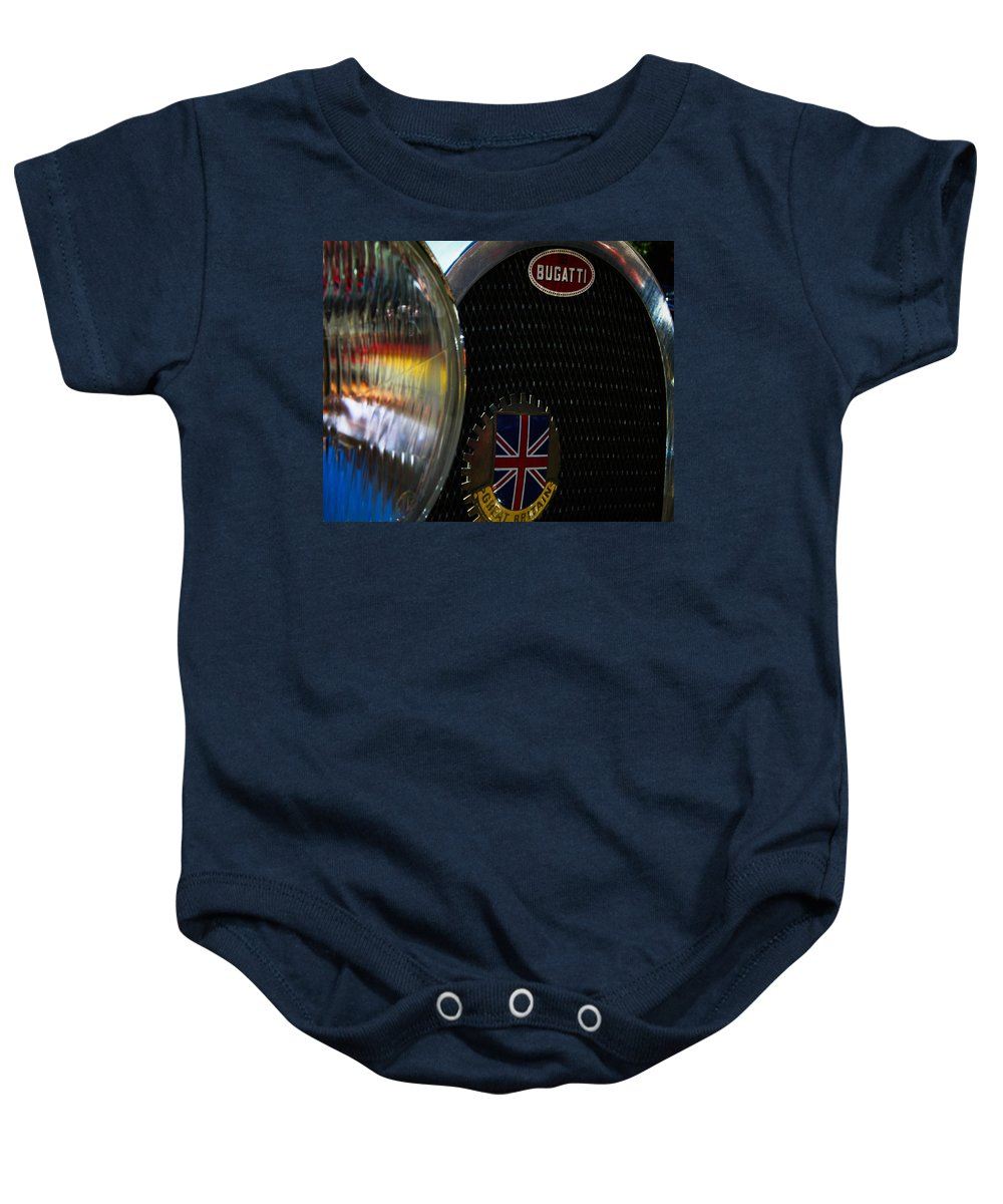 Classic Cars Baby Onesie featuring the photograph 1920s Racer by Digital Kulprits