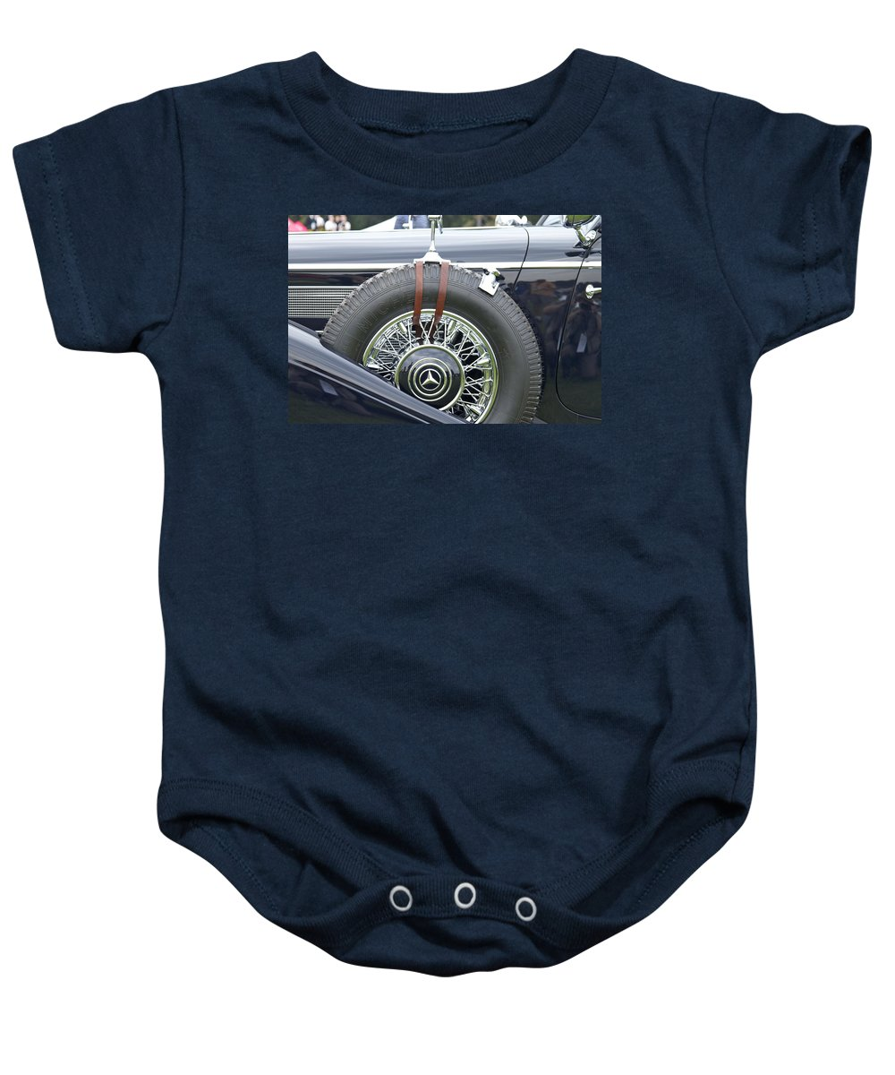 Antique Baby Onesie featuring the photograph 1938 Bentley by Jack R Perry