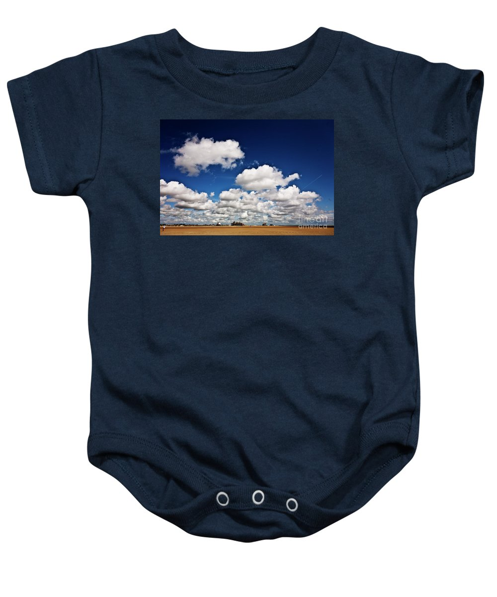 Beach Baby Onesie featuring the photograph Beach Far And Wide by Heiko Koehrer-Wagner
