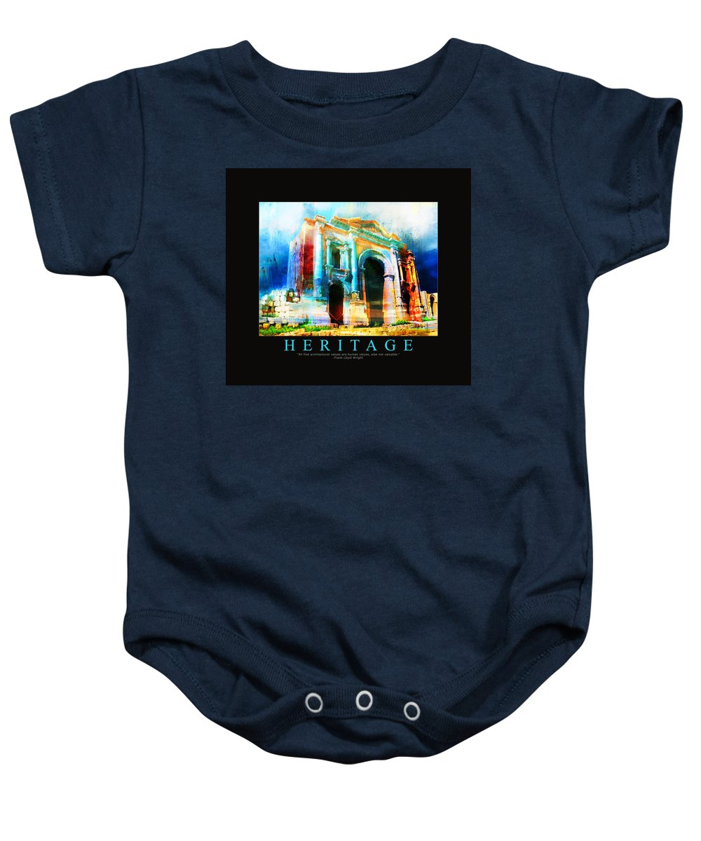 Baby Onesie featuring the painting Corporate Art 004 by Catf