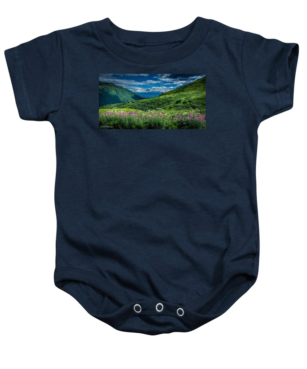 Summer Baby Onesie featuring the photograph Hatcher's Pass by Andrew Matwijec