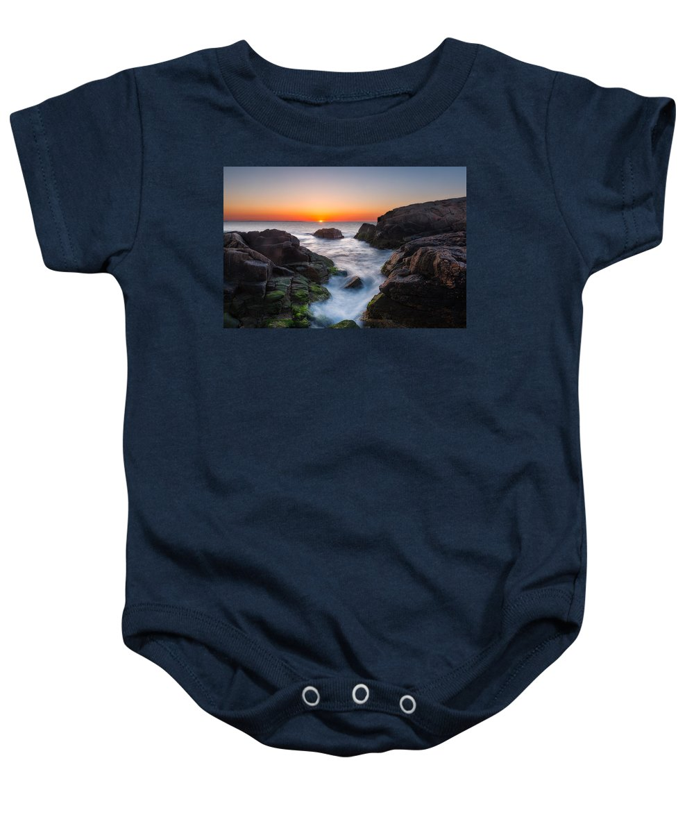 Coast Baby Onesie featuring the photograph Tic Tac Toe by Michael Blanchette