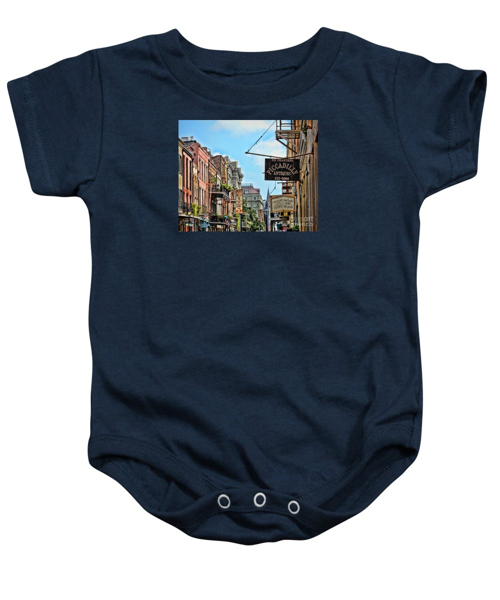 New Orleans Baby Onesie featuring the photograph 228 Charters New Orleans by TN Fairey
