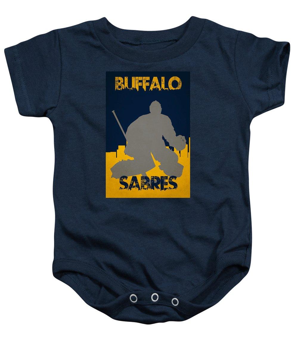 Sabres Baby Onesie featuring the photograph Buffalo Sabres by Joe Hamilton