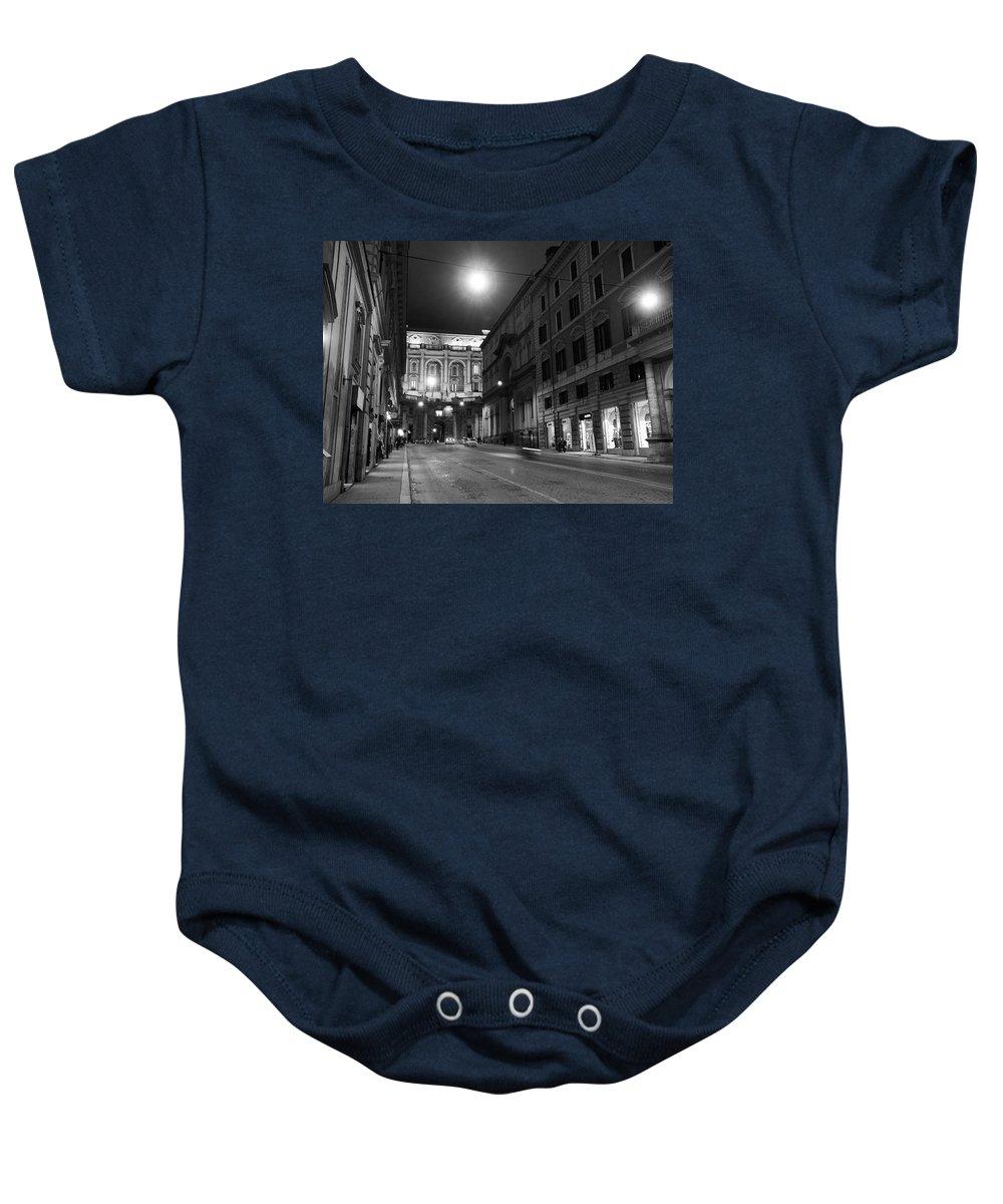 Lehto Baby Onesie featuring the photograph Roma By Night by Jouko Lehto