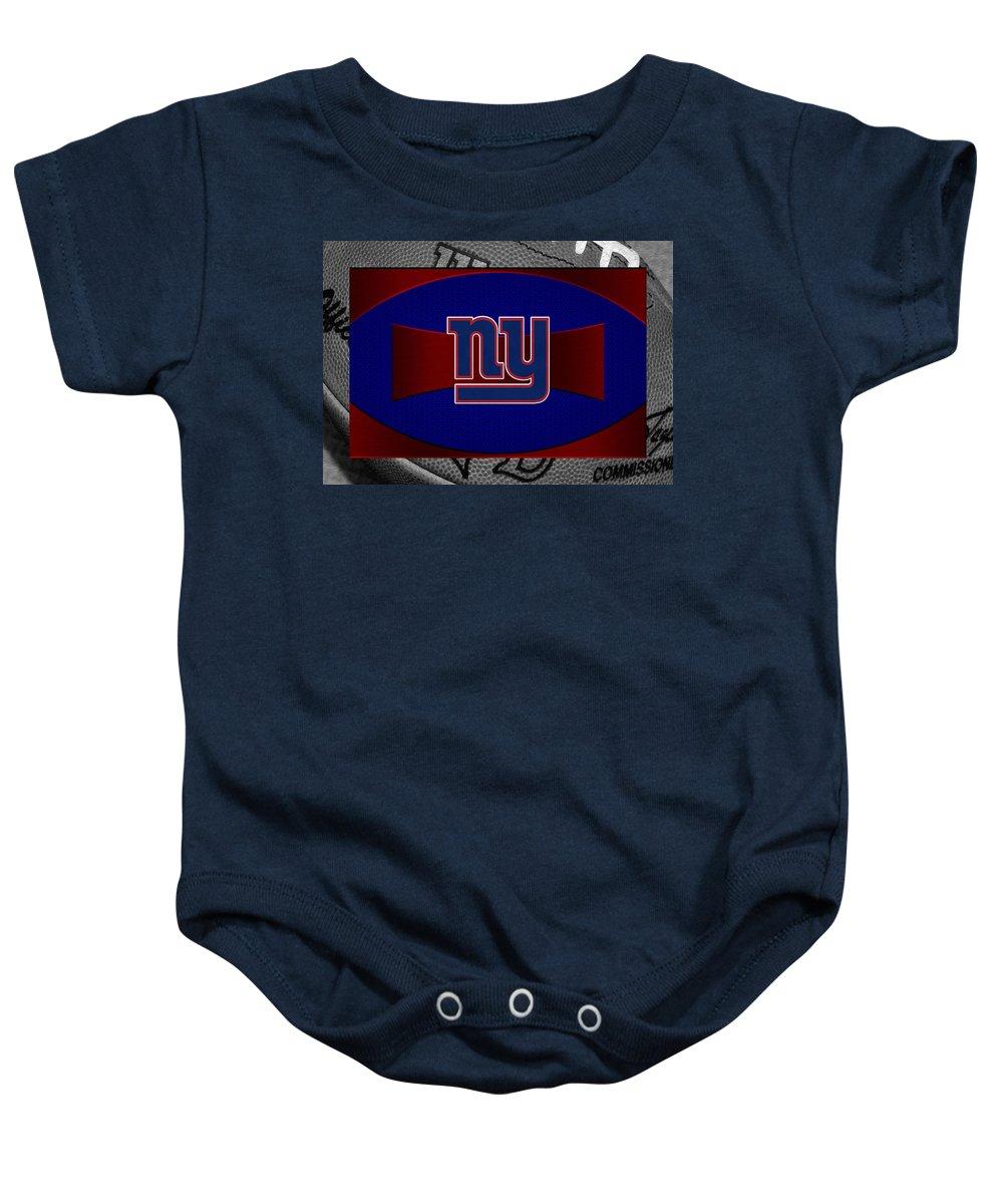 Giants Baby Onesie featuring the photograph New York Giants by Joe Hamilton