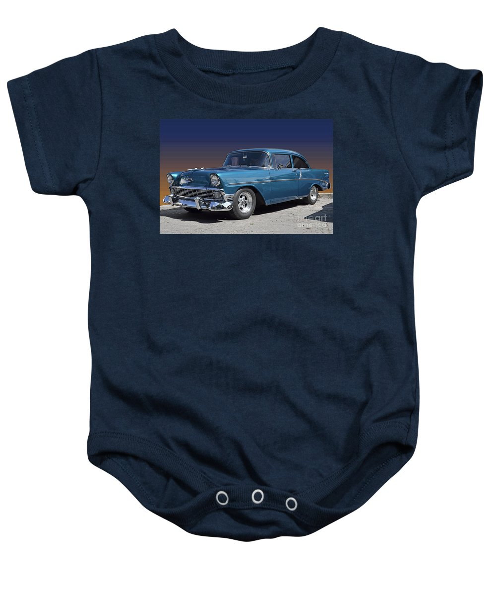 1956 Chevy Baby Onesie featuring the photograph 56 Chevy by Robert Meanor