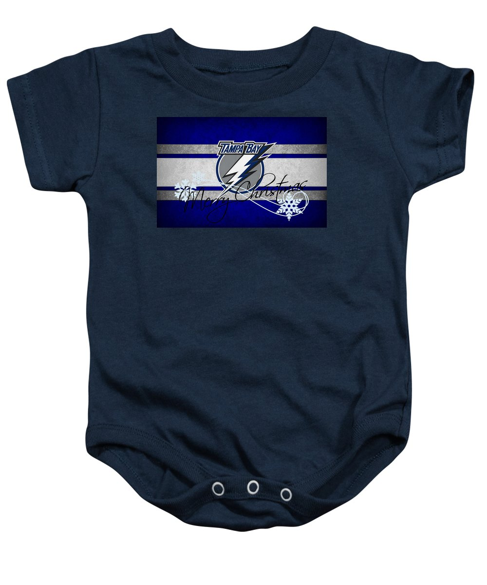 Lightning Baby Onesie featuring the photograph Tampa Bay Lightning by Joe Hamilton