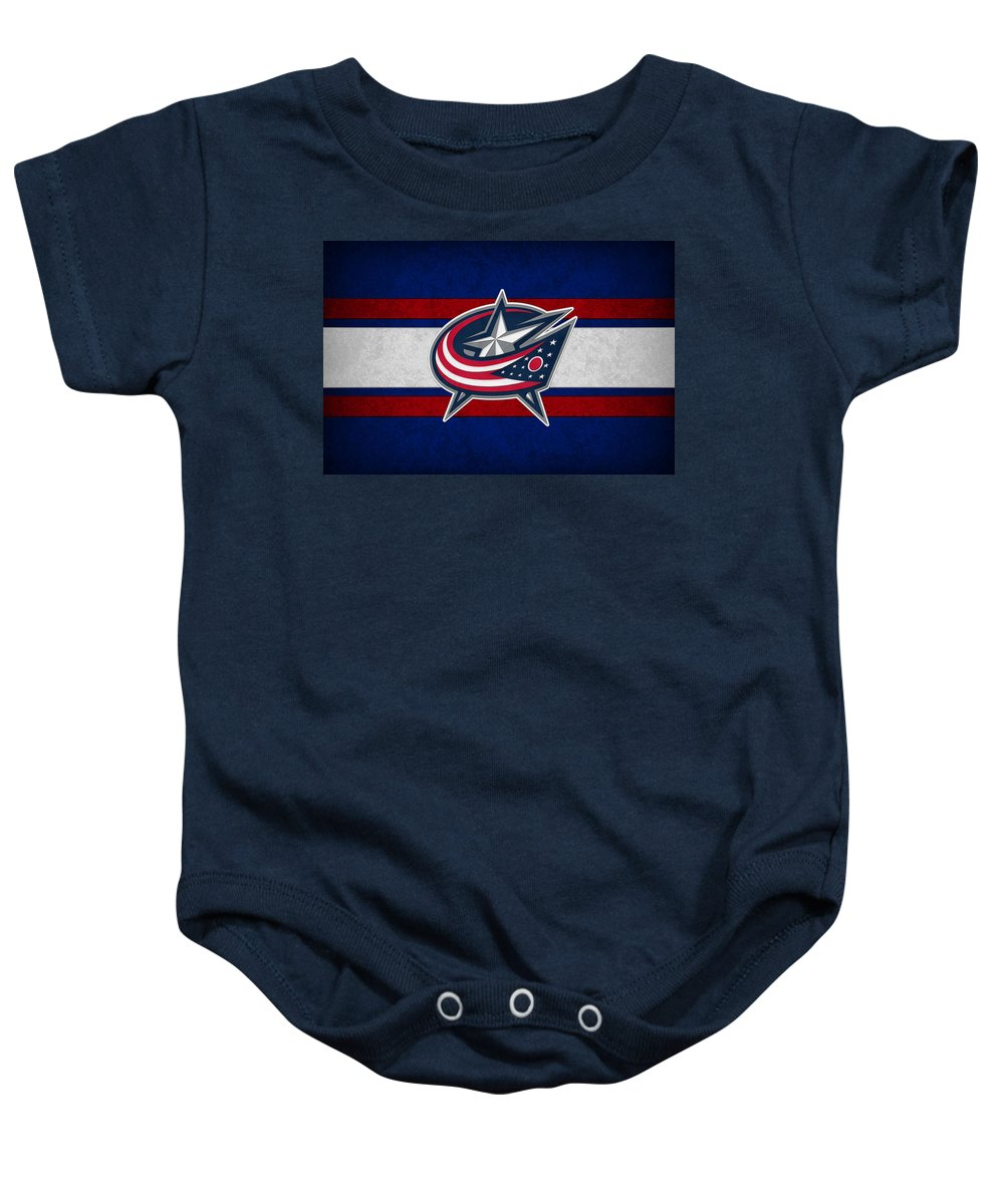 Blue Jackets Baby Onesie featuring the photograph Columbus Blue Jackets by Joe Hamilton